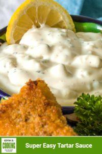 close up of a bowl of tartar sauce