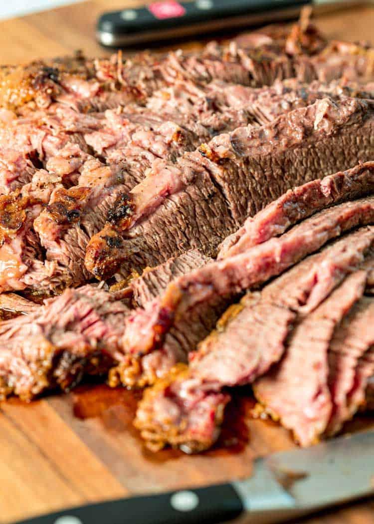 sliced braised beef brisket