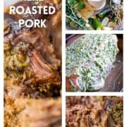 prep photos of citrus herb covered pork