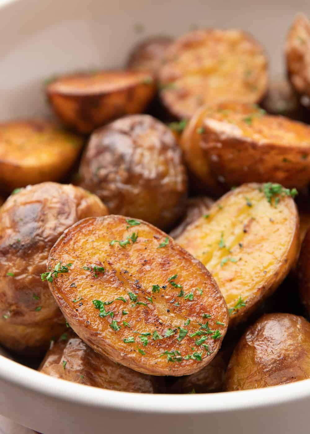 roasted potatoes with chopped parsley