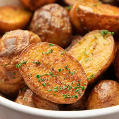 close up of oven roasted potato