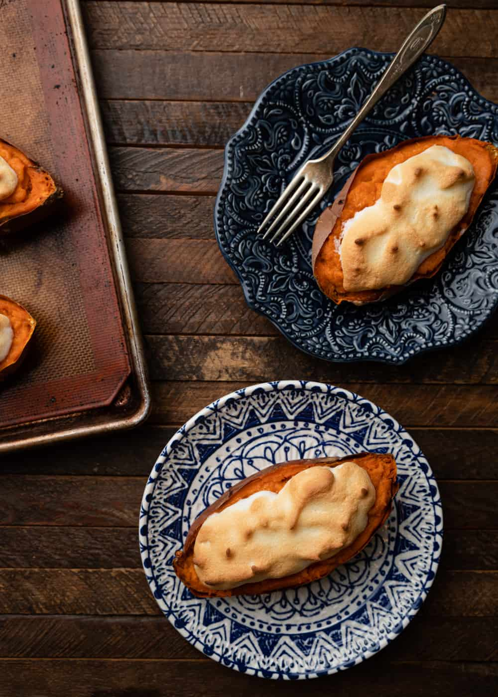 overhead photo of Sweet Potatoes with Meringue