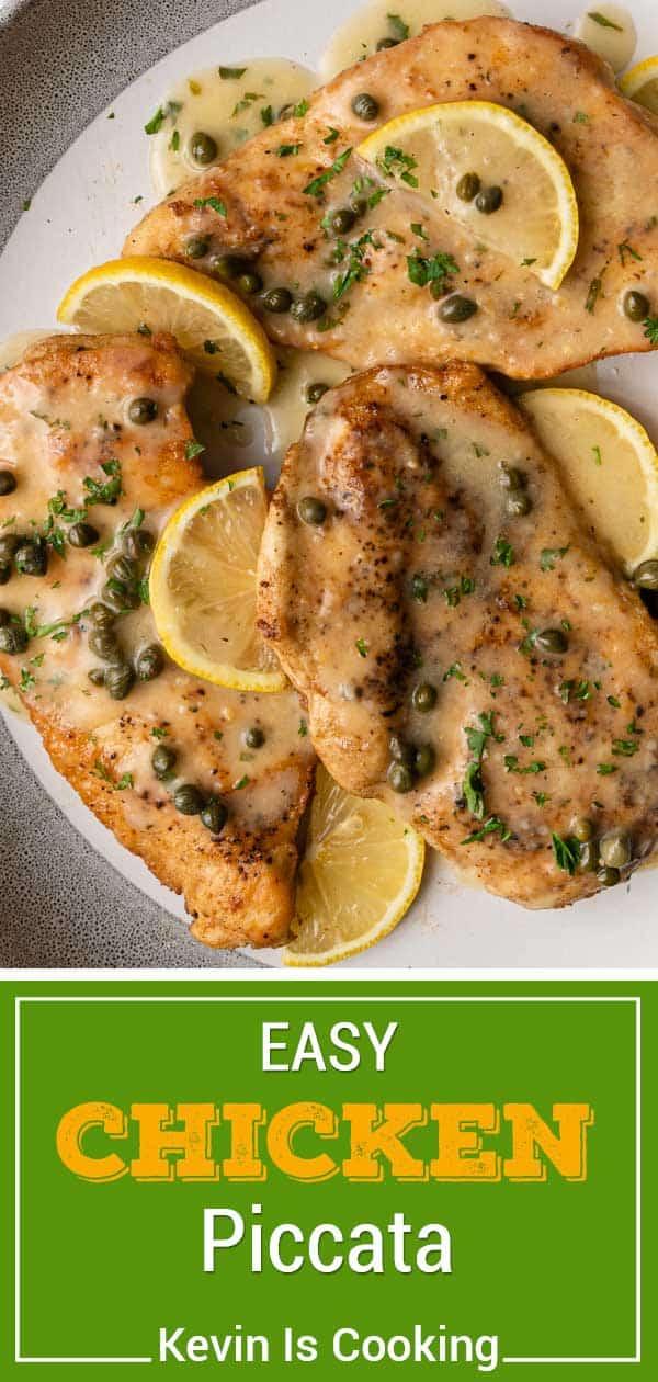 lemon caper sauce on sauteed chicken