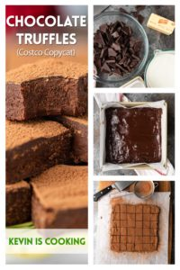 collage of chocolate truffle photos
