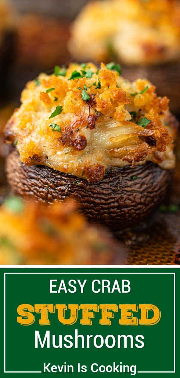 close up of Crab Stuffed Mushroom