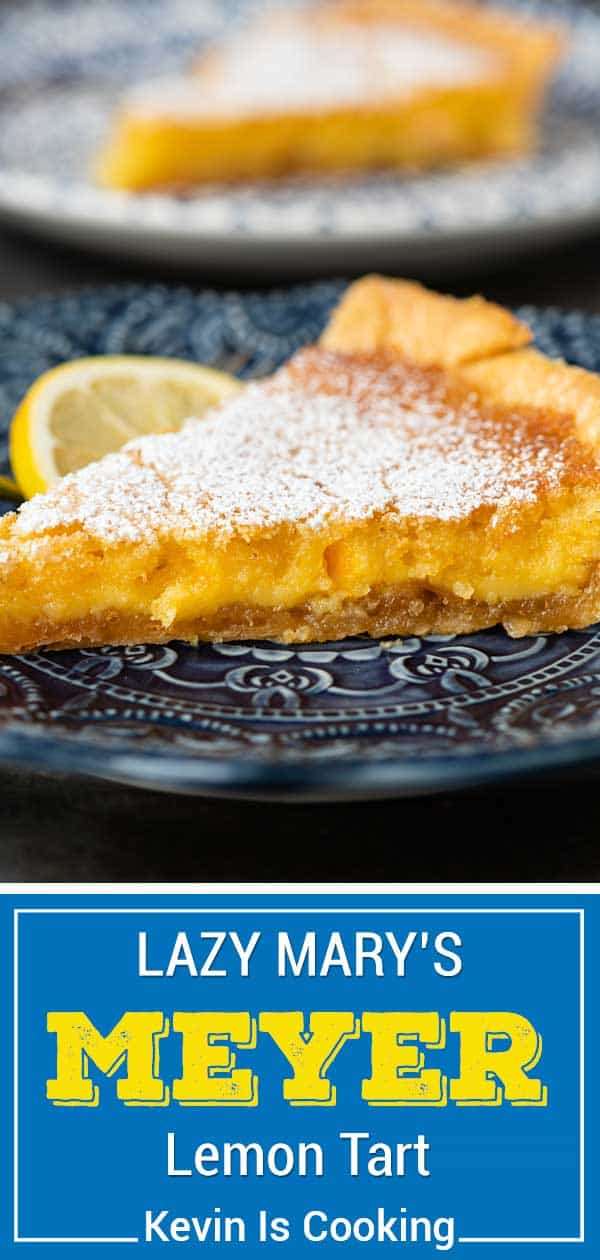 slice of meyer lemon tart