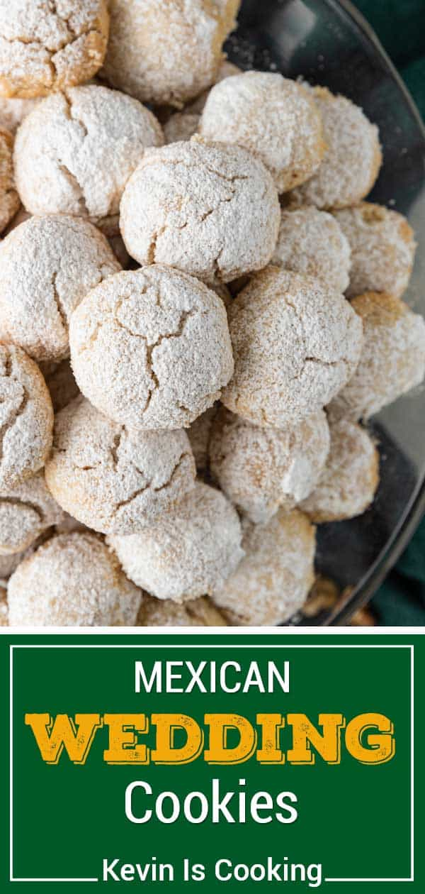 close up of Mexican wedding cookies