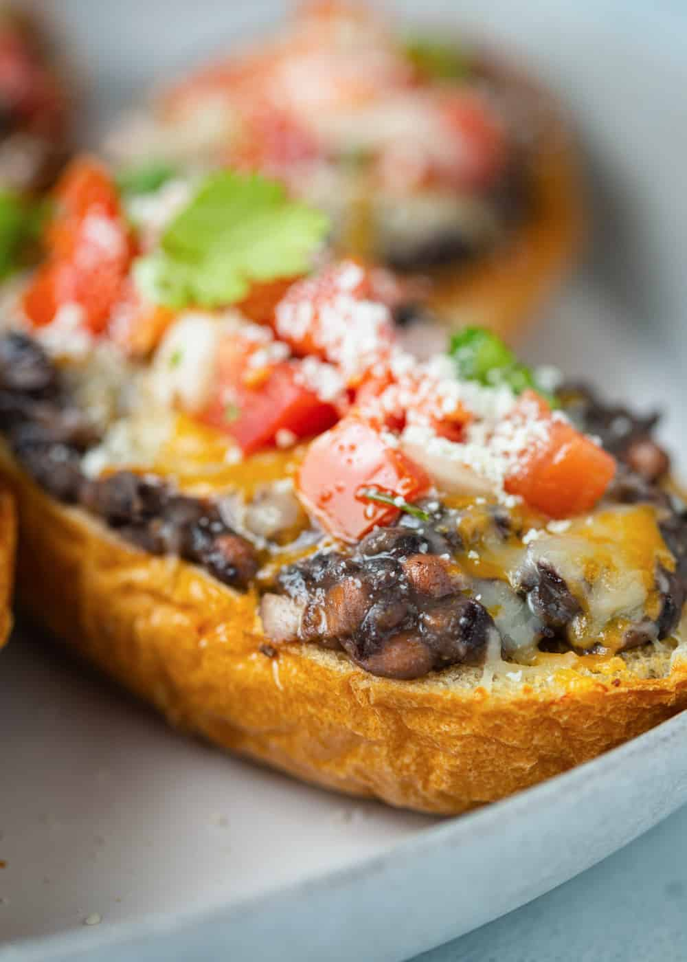 close up of a Authentic Mexican Molletes