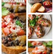 collage of molletes photos