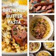 collage og smoked sausage pasta