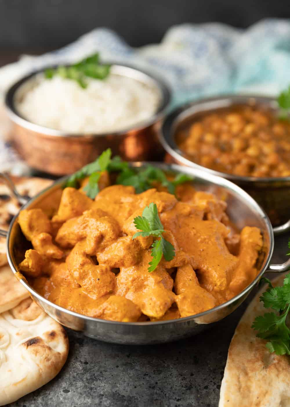 bowl of butter chicken in curry sauce
