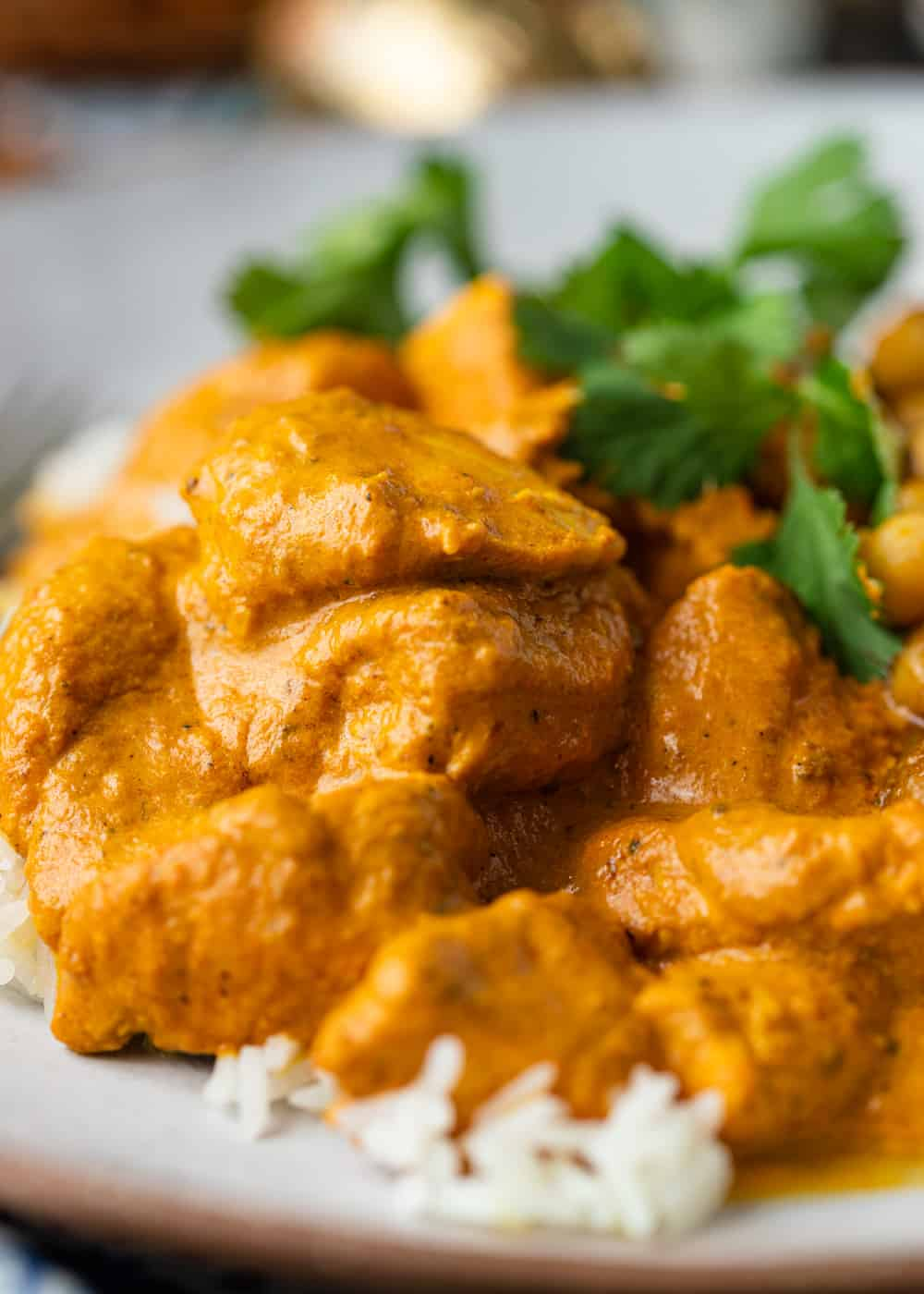 close up of plate of Butter Chicken