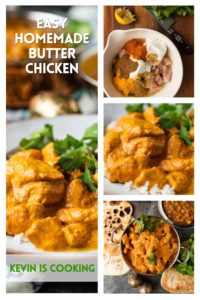 collage or prep photos for butter chicken