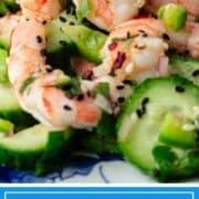 Thai inspired cucumber shrimp salad