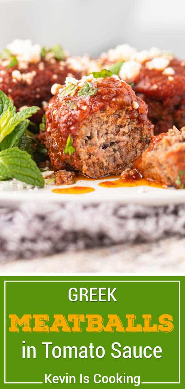 Greek Meatballs in Tomato Sauce