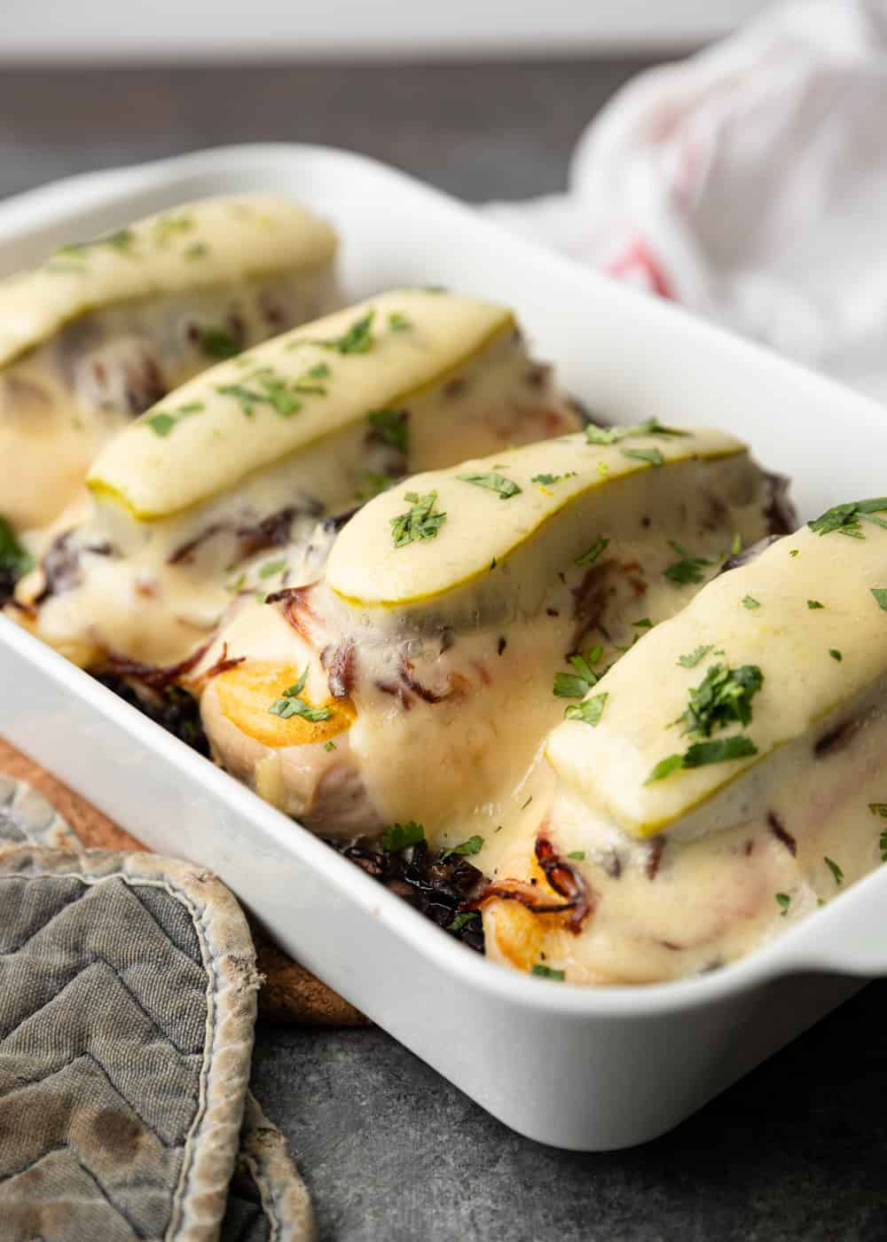 melted cheese over oven baked sandwiches