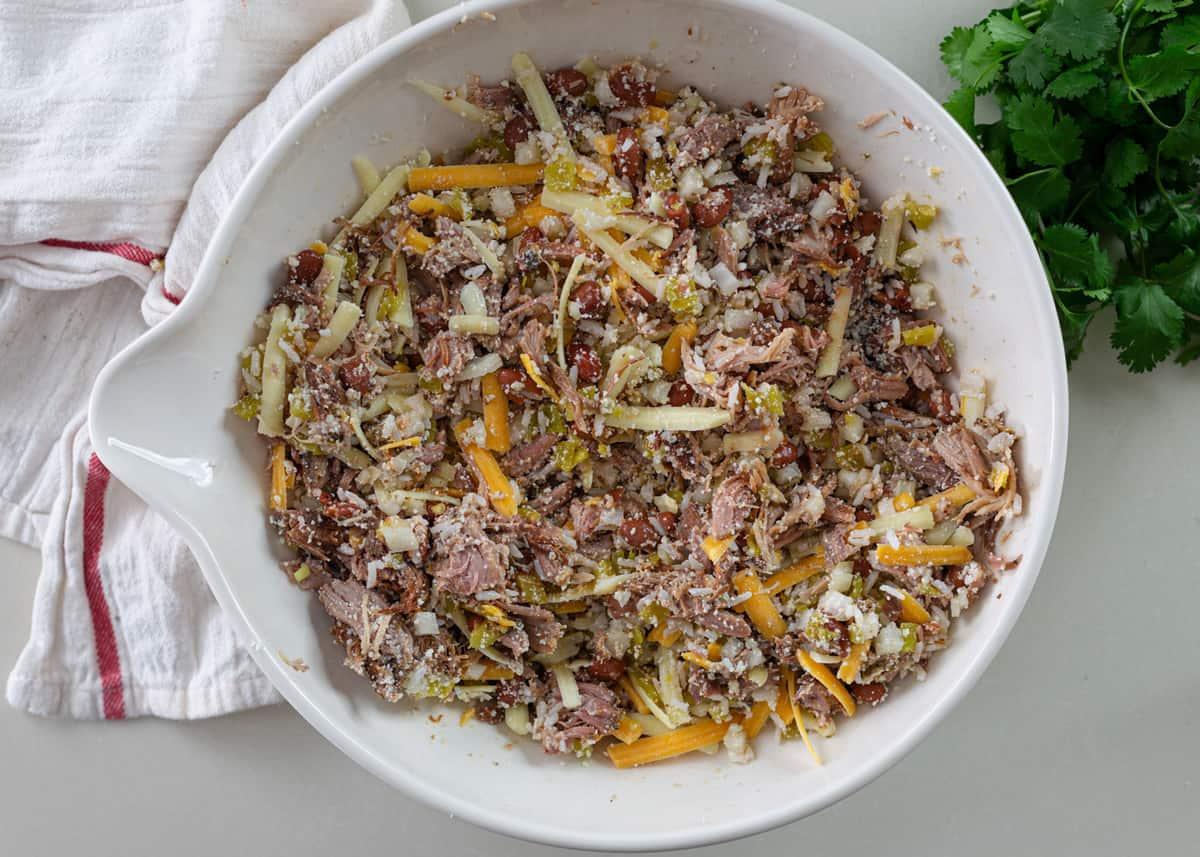 carnitas mixture for pork enchiladas