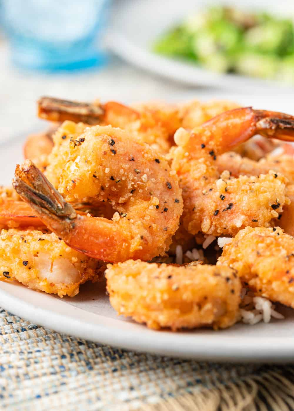 crispy fried shrimp on a plate