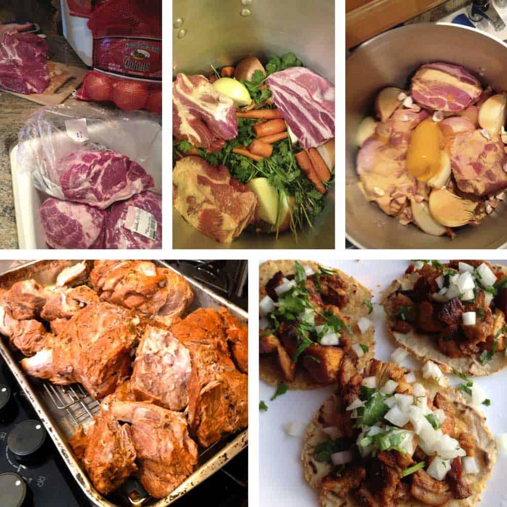 prep photos of original carnitas recipe post 2013