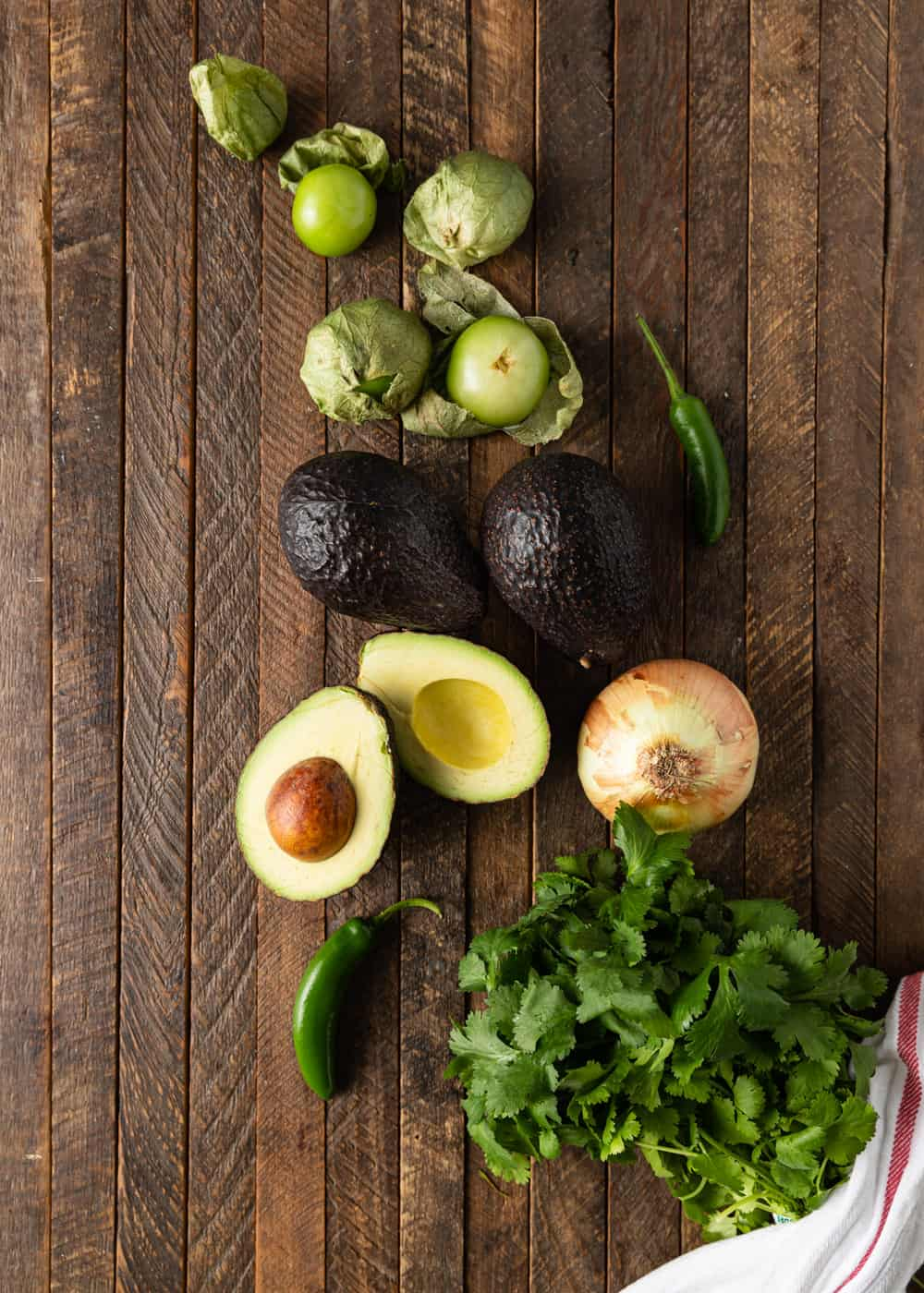 ingredients for making avocado salsa recipe