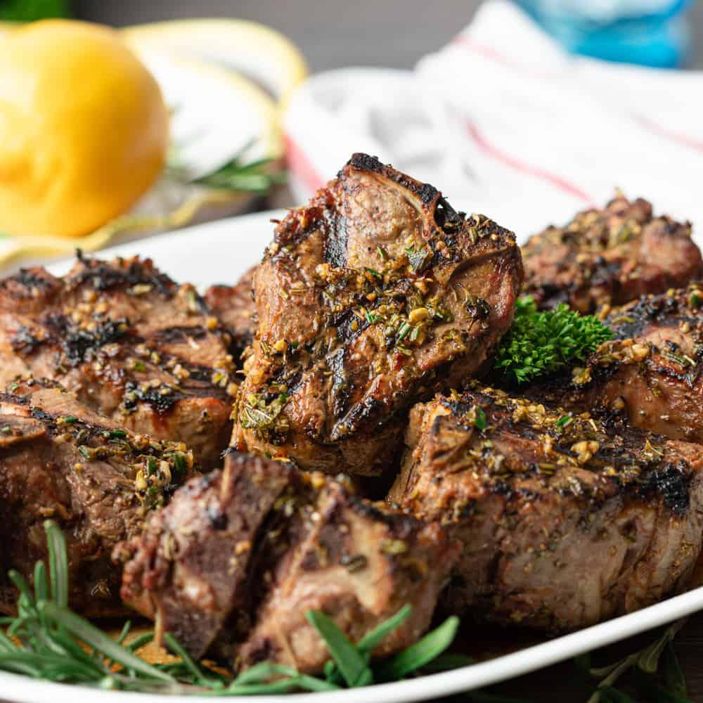 lamb loin chop recipes grill Greek Grilled Lamb Loin Chops
