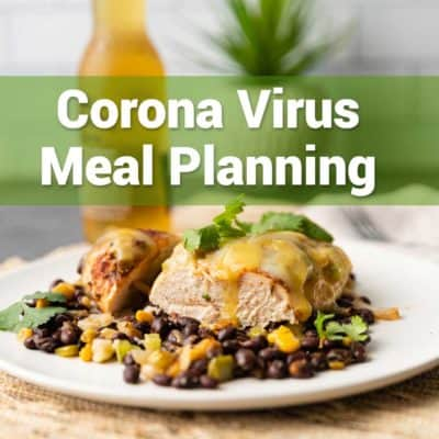 corona virus meal planning list