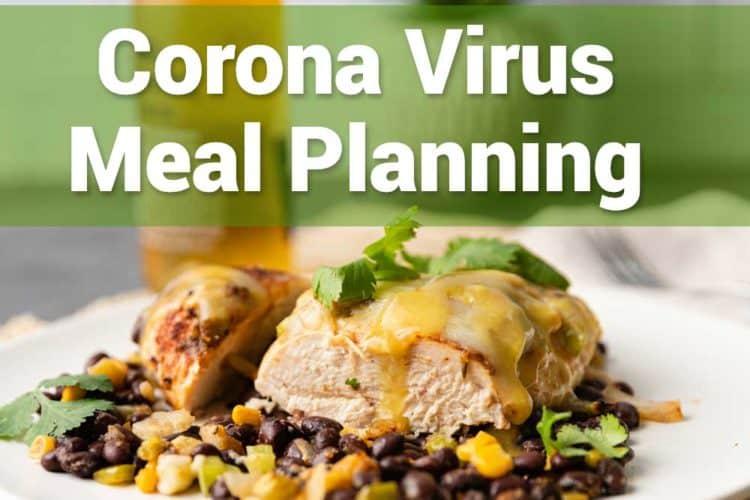 corona virus meal planning list
