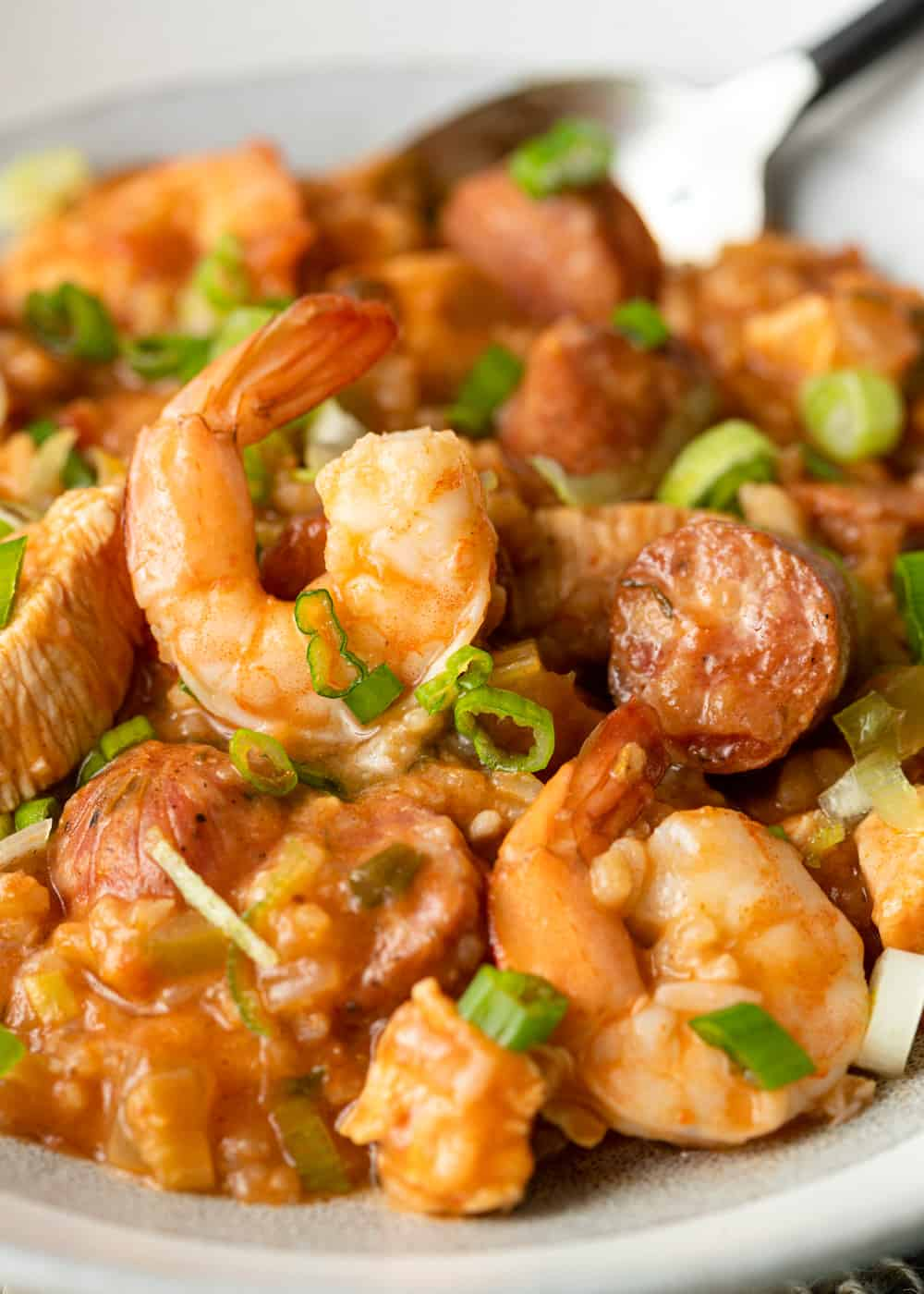 bowl of cajun jambalaya