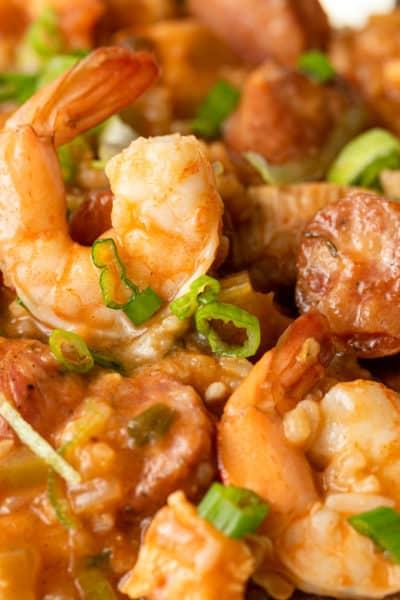 bowl of cajun jambalaya
