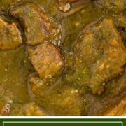 titled image (shown) real deal chile verde recipe from Kevin is Cooking