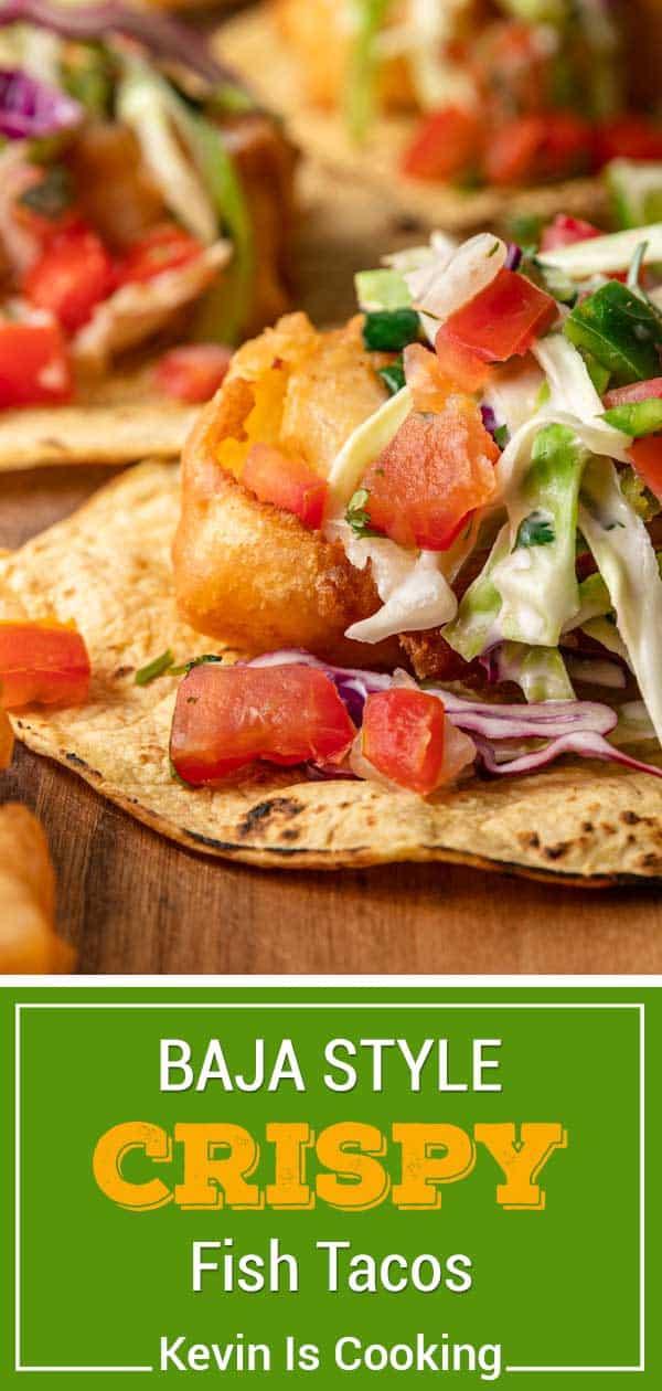 A close up of baja fish Taco and salsa
