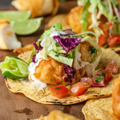 Baja Style Battered Fish Tacos