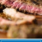 sliced skirt steak