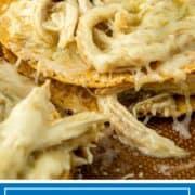 titled image of chicken tostadas