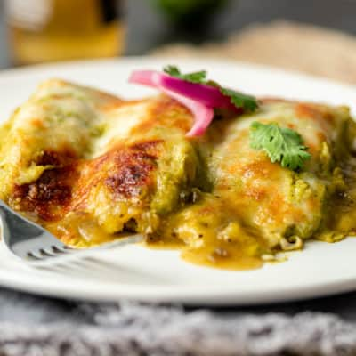 plate of Enchiladas Suizas