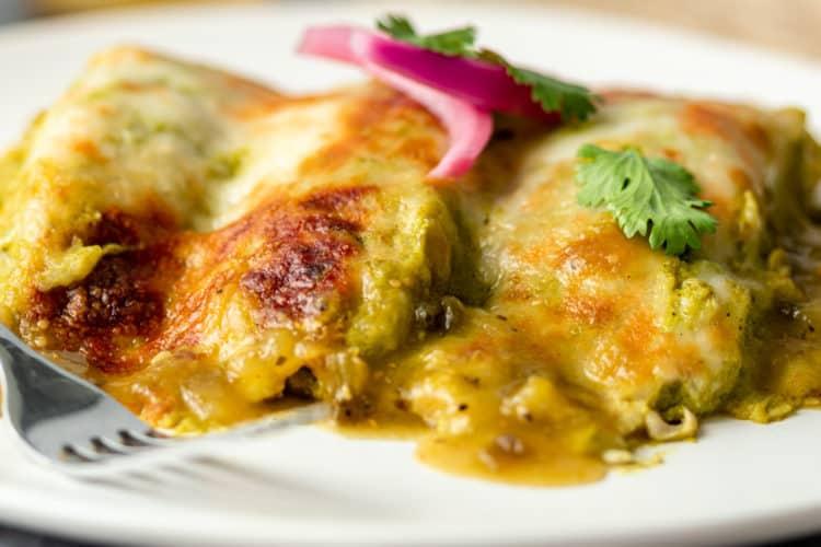 plate of Enchiladas Suizas