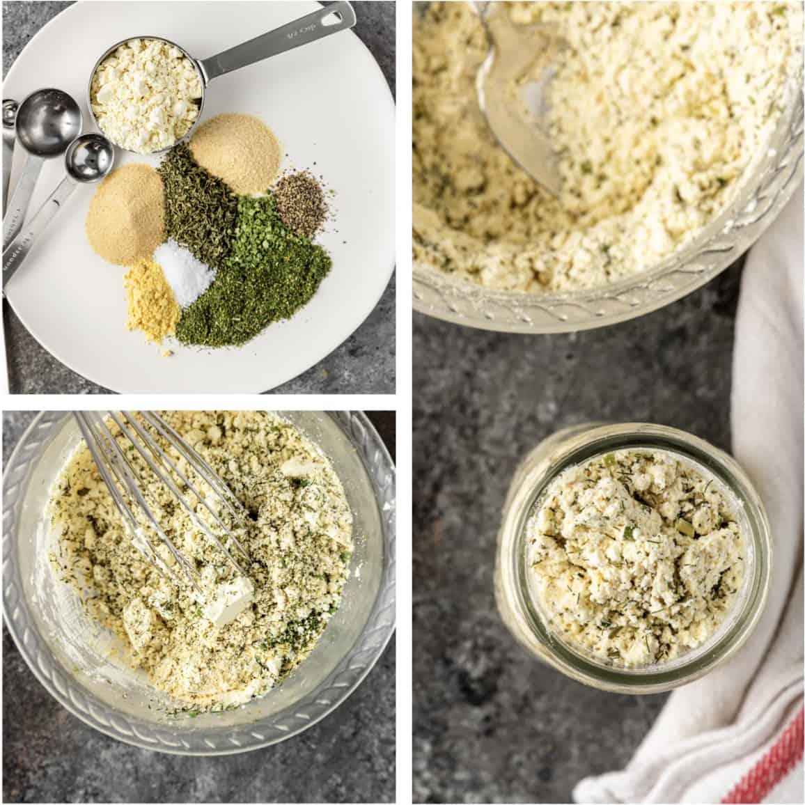 ingredients to make Ranch dressing seasoning mix