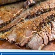 juicy slices of beef brisket