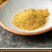 titled image shows small white bowl of basic spices
