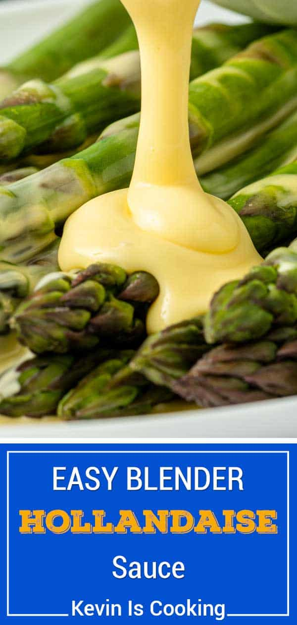 titled photo (and shown): Easy Blender Hollandaise Sauce - Kevin is Cooking