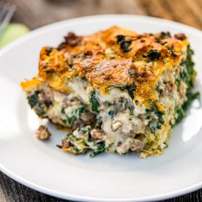 Cheesy Sausage Baked Eggs Casserole