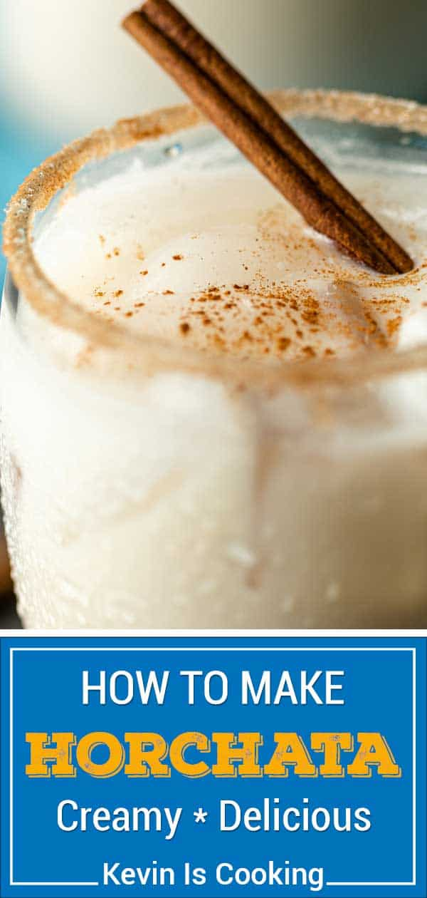 titled image for Pinterest (and shown): Horchata Recipe