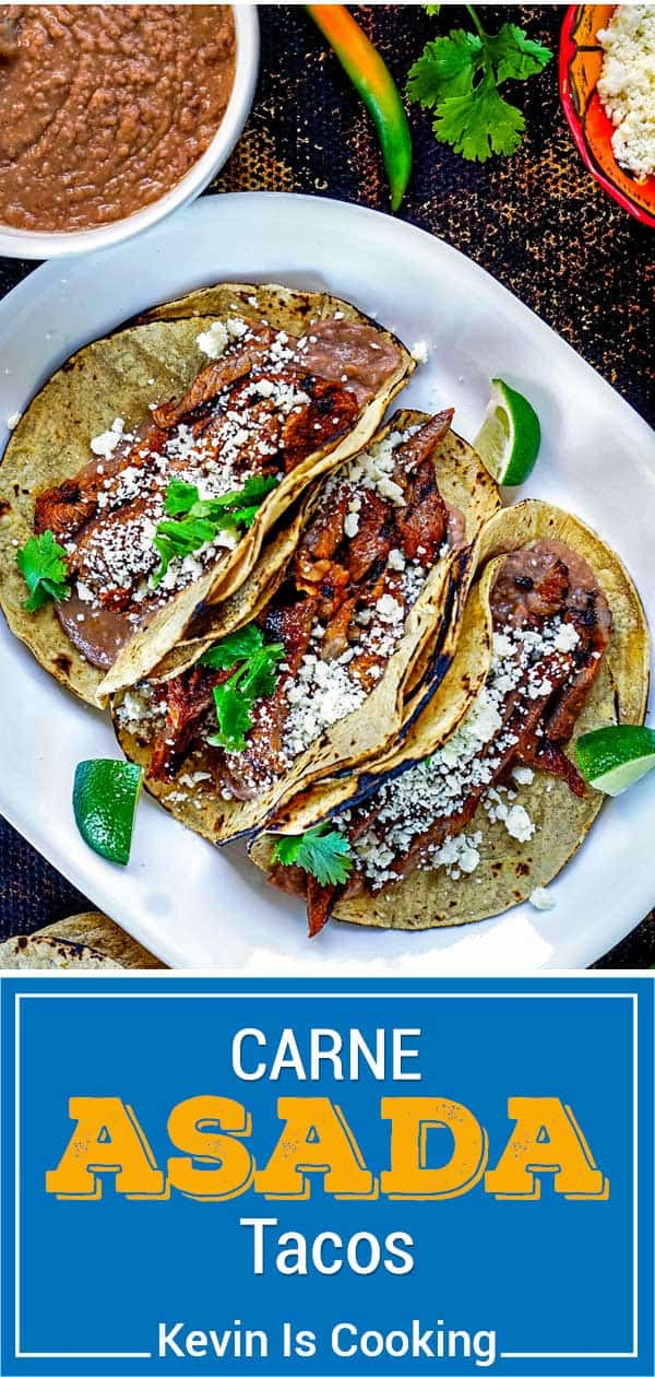 titled image (and shown) Carne Asada Tacos