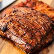 closeup: homemade version of Chipotle carne asada