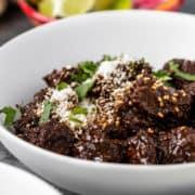 bowl of pork asado