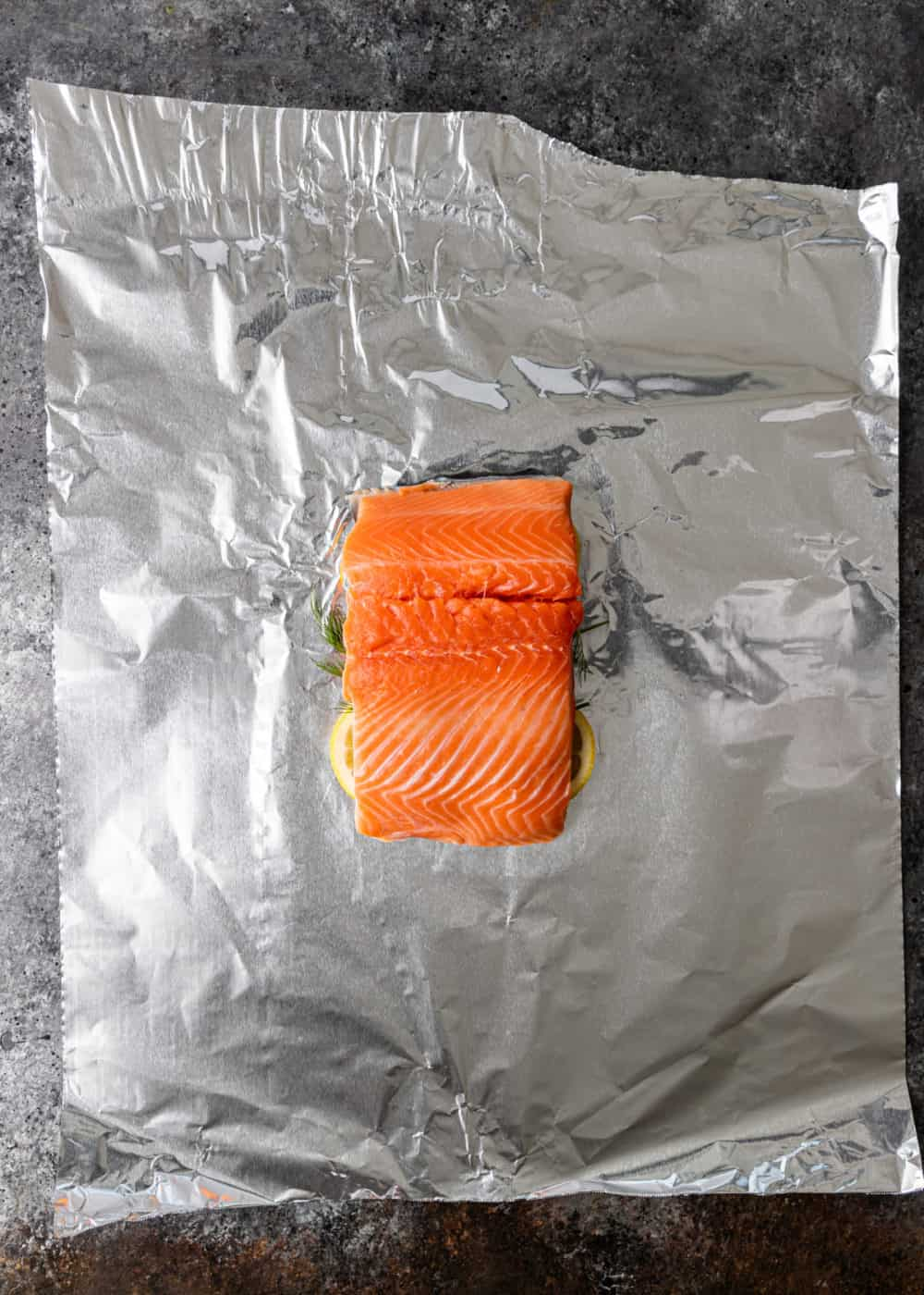 getting fish filet ready for grilling