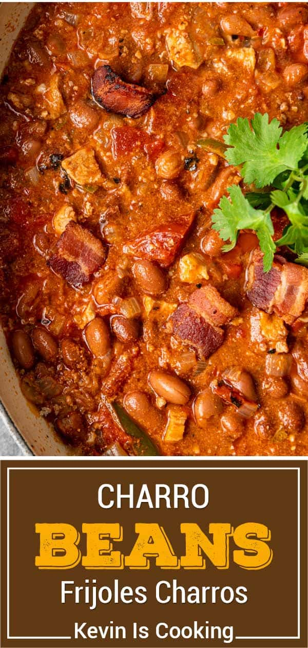 titled image (and shown in pot): charro beans