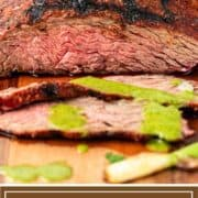 titled image for Pinterest shows medium-rare grilled beef sirloin