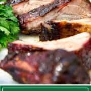 titled image (and shown): Jerk Pork Baby Back Ribs