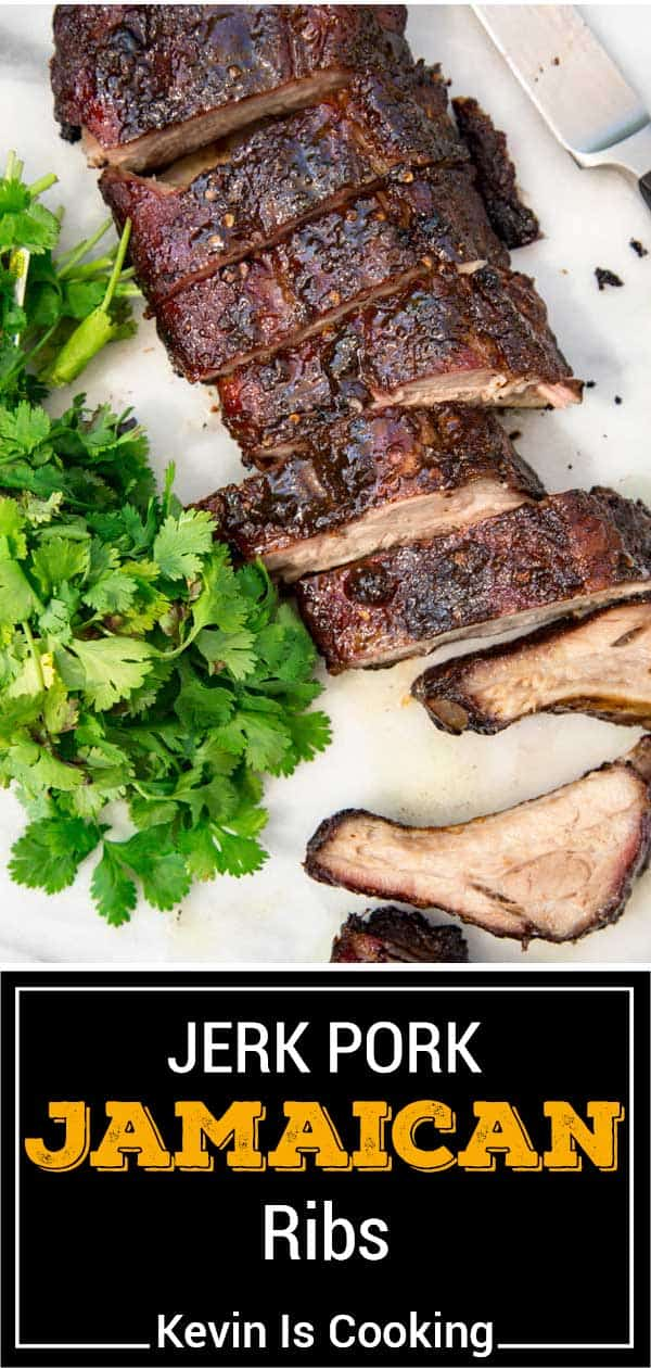 titled image (and shown): Jamaican Jerk Pork Ribs